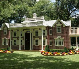 5. Custom Home Replica Playhouse