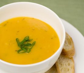 Yellow Squash and Pepper Soup