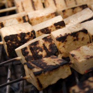 Recipe: Tofu Kebabs with Green Mango Salsa