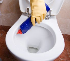 7. Sanitize Your Toilet Bowl Safely