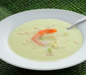 Avocado and Shrimp Soup