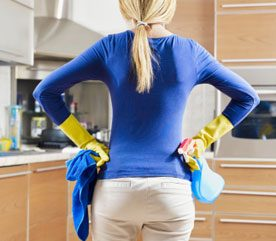 1. Clean in an Organized Manner