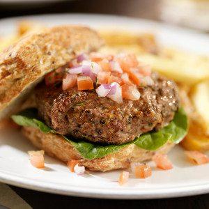 Mediterranean Burgers with Spicy Tomato Salsa