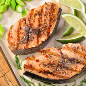 Recipe: Grilled Swordfish Steaks with Tomato and Capsicum Salsa