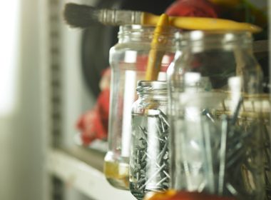Use Jars to Create Garage Storage