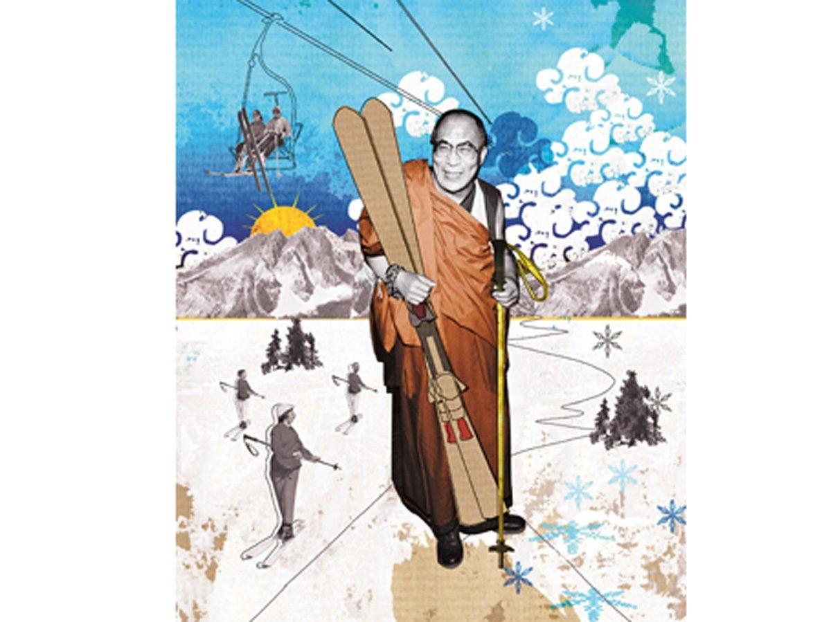 The Dalai Lama's Ski Day