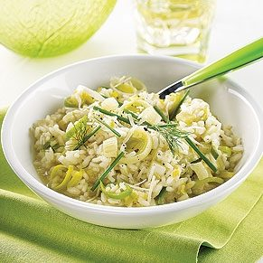 Leek and Fennel Risotto