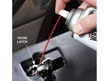 Step 3: Lube the Hood Latch