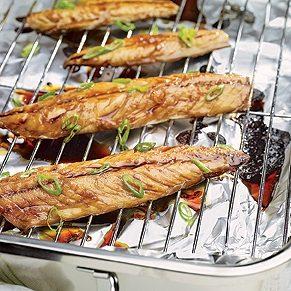 Mackerel Glazed With Teriyaki Sauce