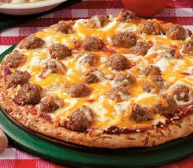 1. Meatball Pizza