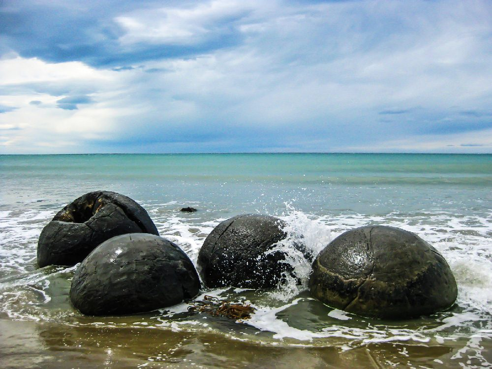 Visit the Moeraki Boulders in New Zealand