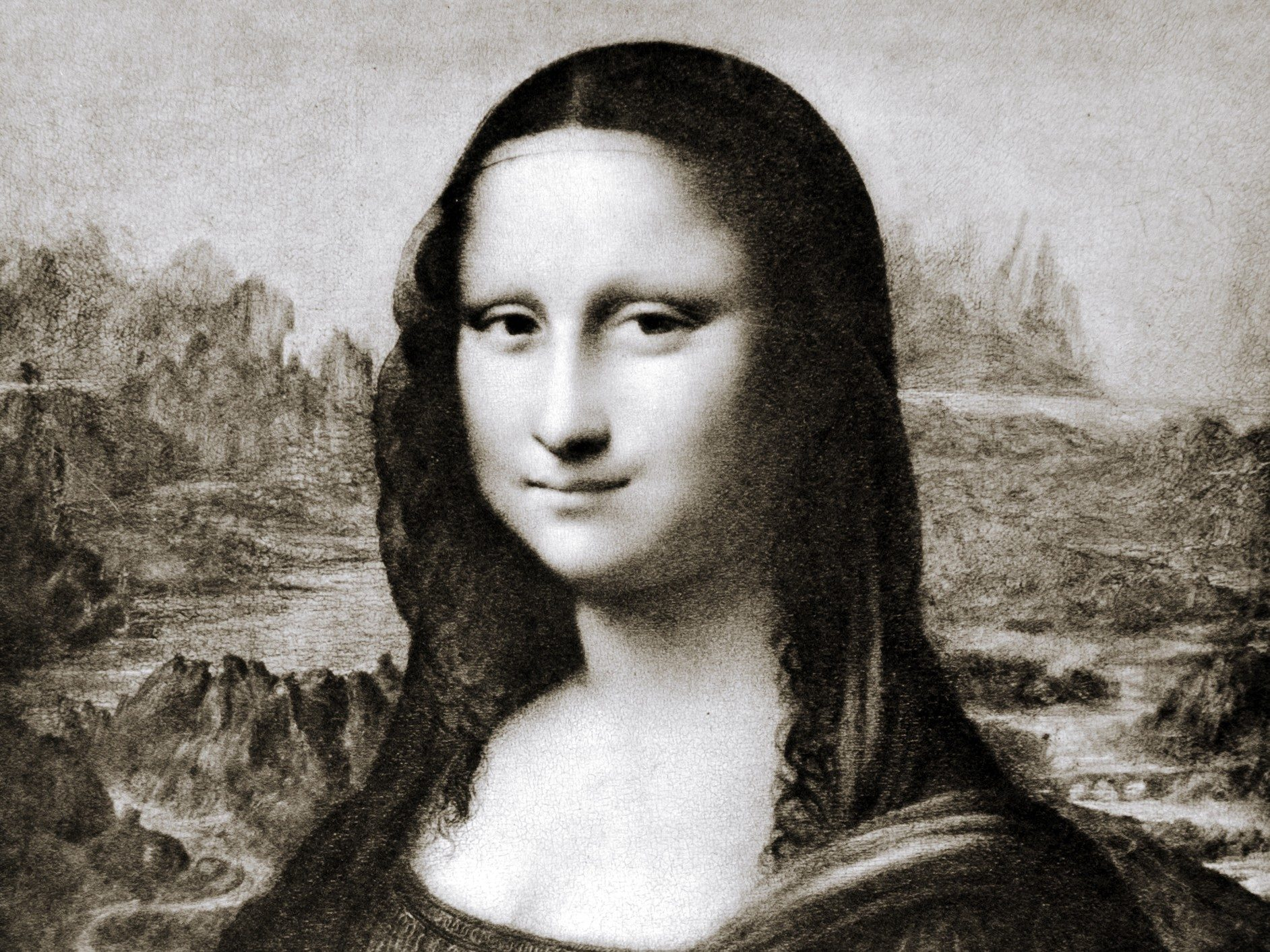 Mona Lisa mystery #3: The broken backdrop.