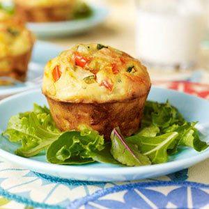Veggie and Cheese Muffin Frittatas
