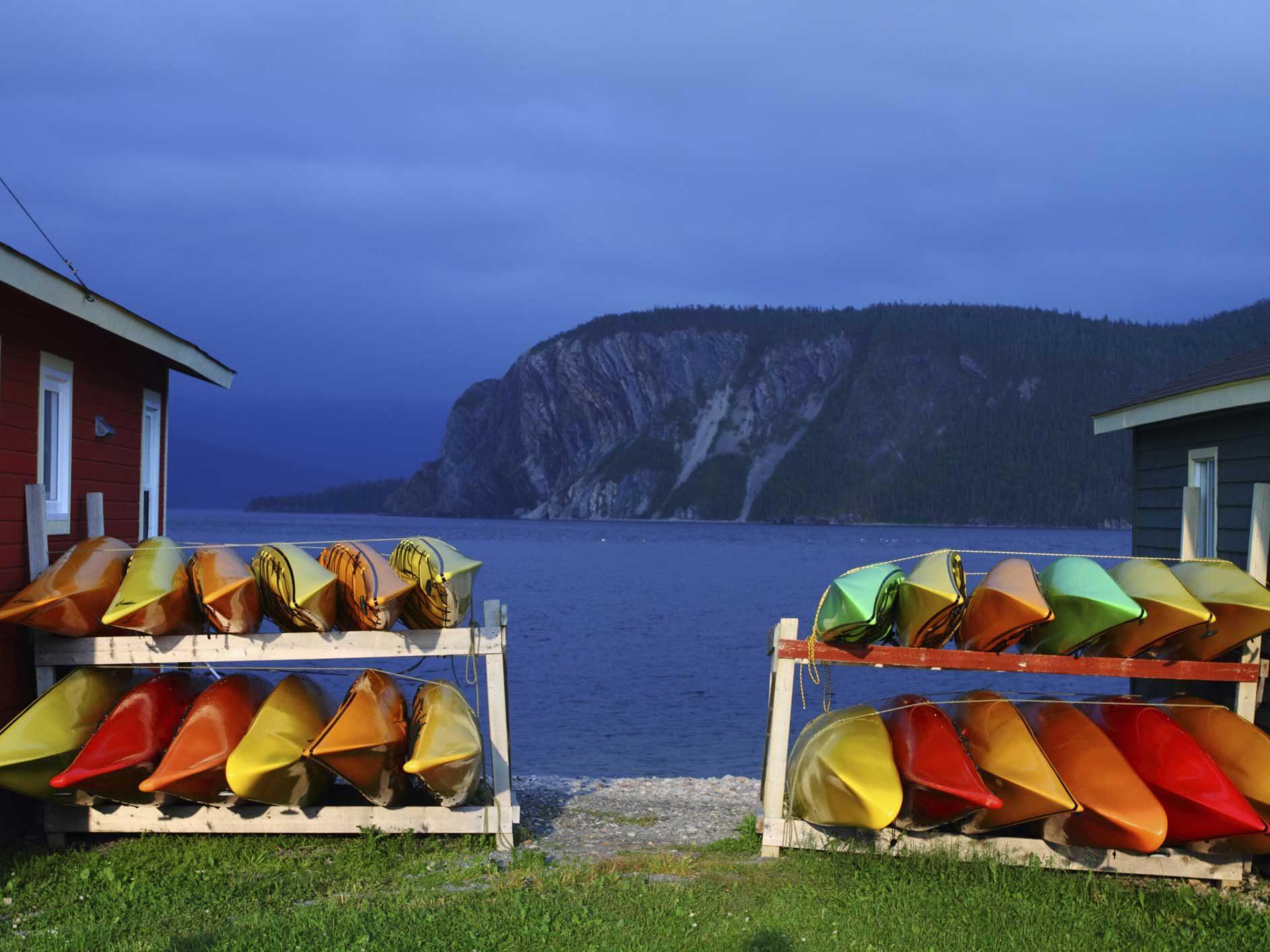 Kayak Among the Icebergs - Newfoundland
