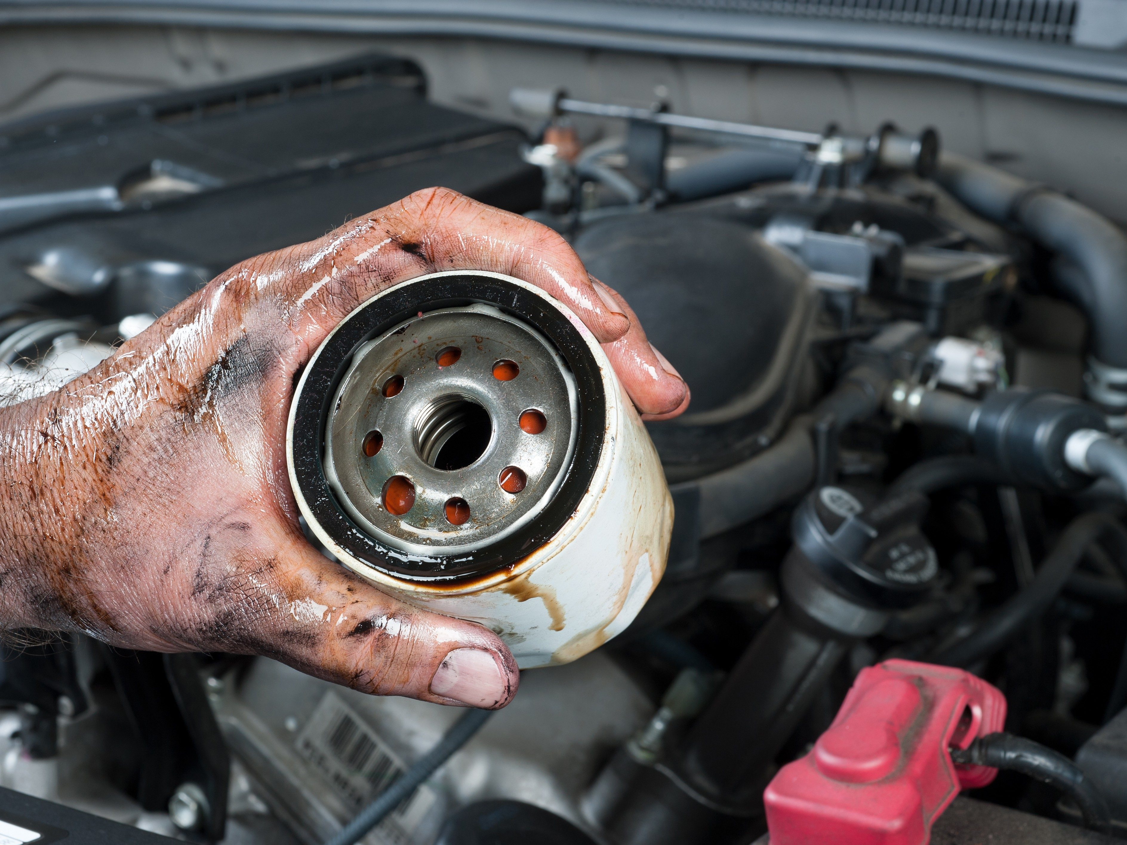 2. Oil protects the car engine, the oil filter protects the oil.