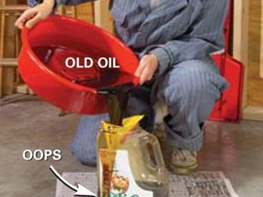 6. Dispose of Old Oil
