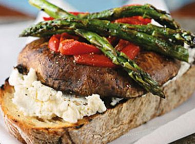 Open-Face Grilled Vegetable Sandwich Recipe