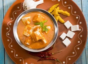 Sweet Potato Curry With Paneer