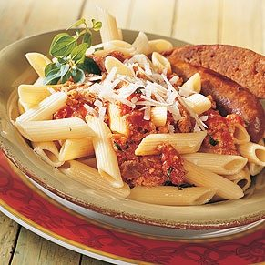 Pasta with Italian Sausage and Ricotta