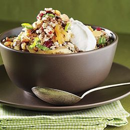 Mixed-Brown-Rice Pilaf With Nuts and Dried Fruit
