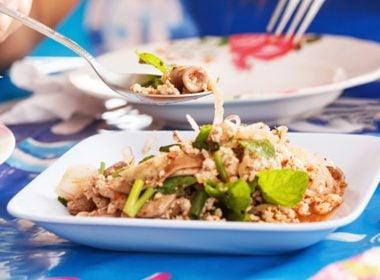 Stomach-Sensitive BBQ Pork Salad