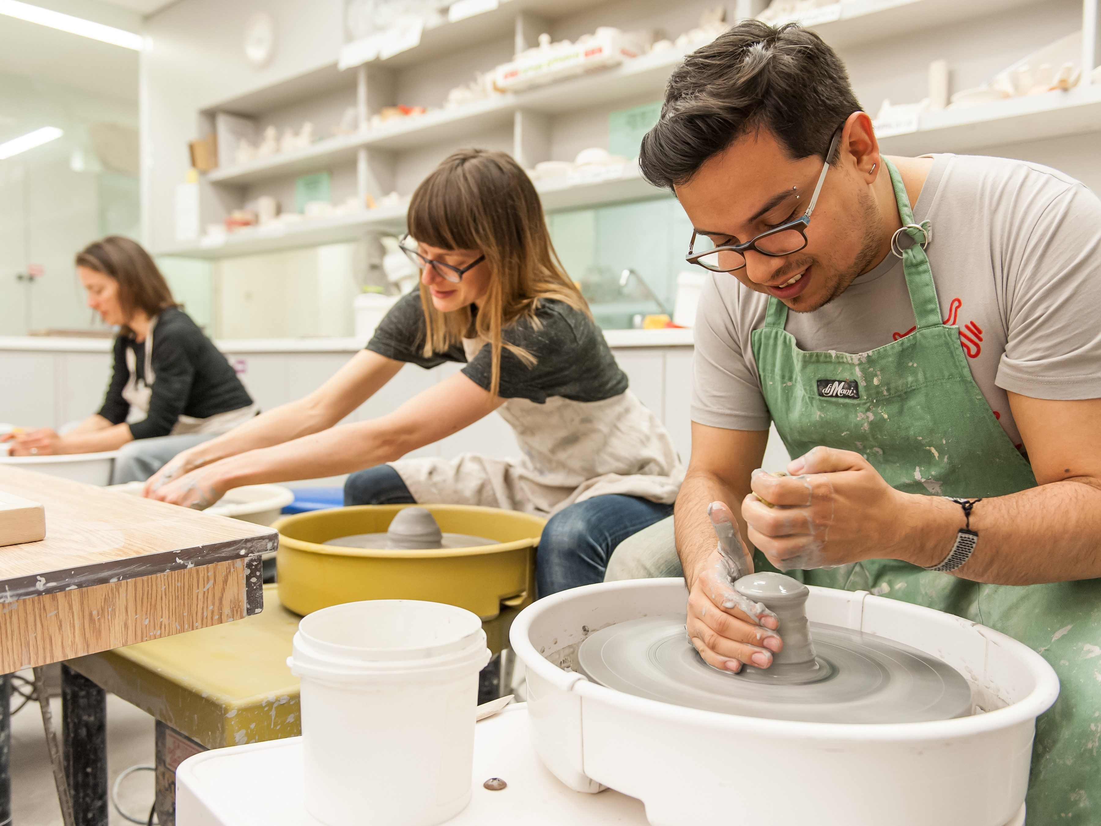 23. Clay class at Gardiner Museum