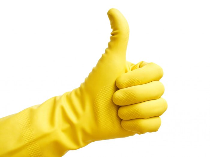 Rescue Your Rubber Gloves With Cotton Balls