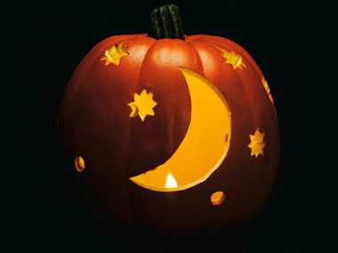 Pumpkin Pattern #4: Starry Night