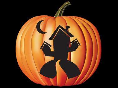 Pumpkin Pattern #15: Haunted House