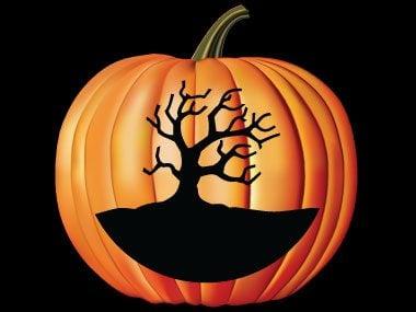 Pumpkin Pattern #21: Spooky Tree