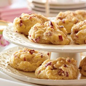 Red Prince Apple Gem Scones with Clotted Cream