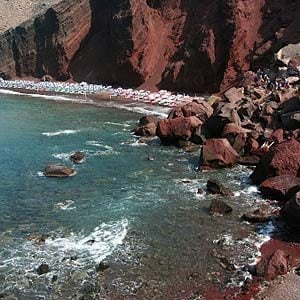 1. Red Beach, Santorini , Greece