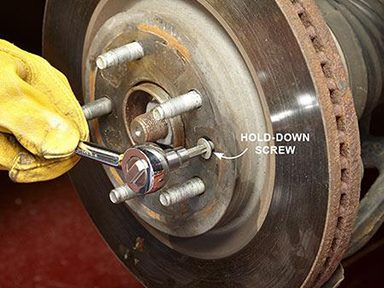 Remove the Rotor Hold-Down Screw