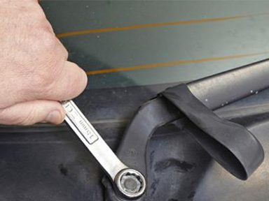 Some Windshield Wipers are Held With a Retaining Nut