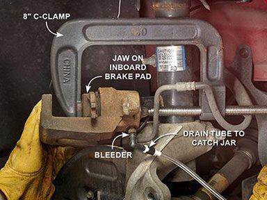 Retract the Caliper Piston