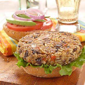 Fall Rice Recipes: Rice Burgers