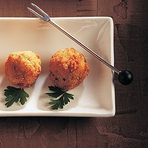 Rice Croquettes with Lemon and Olives