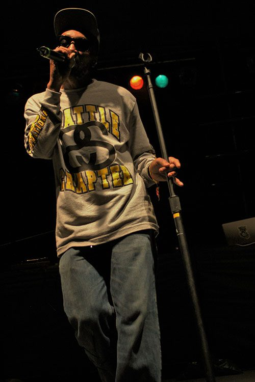 Hip-hop MC takes center stage