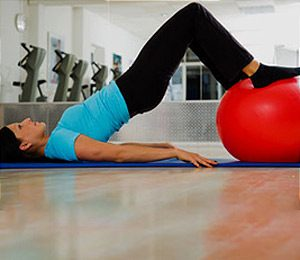 1. Stability Ball Hamstring Curl