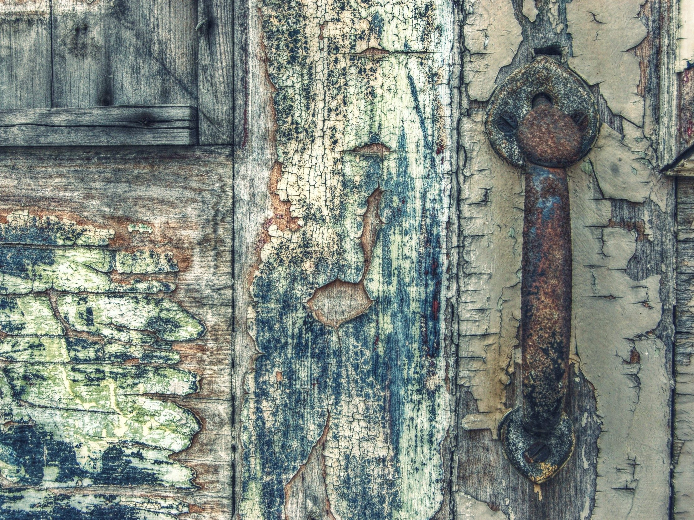 Worn and weathered