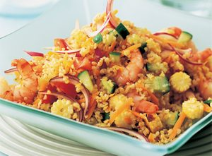 Bulgur Wheat and Shrimp Salad