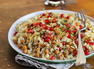 Tabbouleh Salad With Pomegranates and Pine Nuts