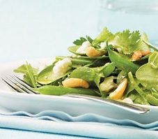 Herb Salad With Goat Cheese and Cashews