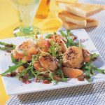Seared Sea Scallops and Grapefruit Salad With Mustard Vinaigrette