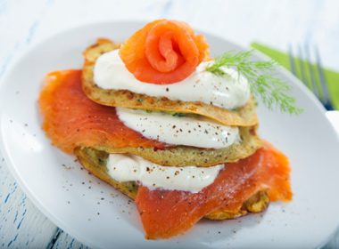 Potato Pancake and Smoked Salmon Canapés