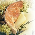 Marinated Salmon With Caciocavallo Cheese