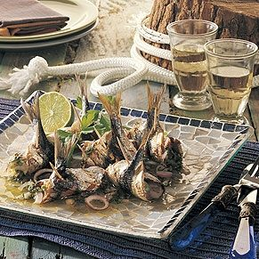 Grilled Sardines with Vinaigrette
