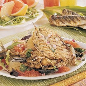 Grilled seafood is the perfect summertime meal for your guests.