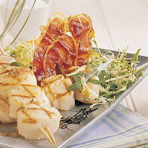 Grilled Scallops with Tarragon Vinaigrette