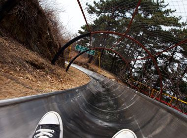 Places to Take a Selfie: The Great Wall of China Toboggan